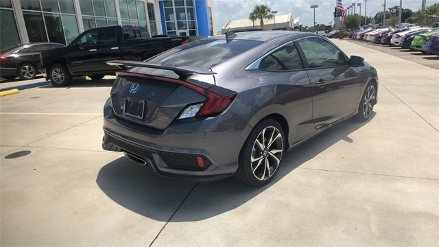 2018 Modern Steel Metallic Honda Civic Si Manual Coupe 1.5L I-4 DI DOHC Turbocharged Engine 2 Door FWD