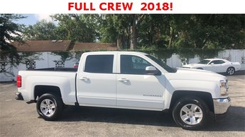 2018 Summit White Chevrolet Silverado 1500 LT LT1 4 Door RWD EcoTec3 5.3L V8 Engine