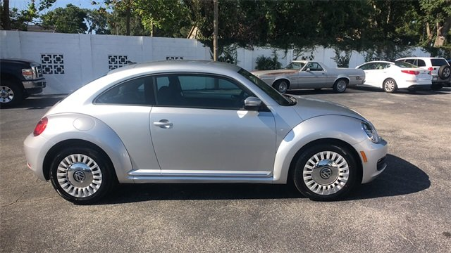 2014 Silver Volkswagen Beetle 1.8T FWD 2 Door Hatchback Automatic 1.8L 4-Cylinder DGI Turbocharged DOHC Engine