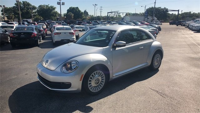 2014 Silver Volkswagen Beetle 1.8T 2 Door Hatchback 1.8L 4-Cylinder DGI Turbocharged DOHC Engine