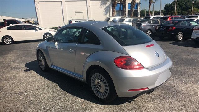 2014 Silver Volkswagen Beetle 1.8T 2 Door 1.8L 4-Cylinder DGI Turbocharged DOHC Engine Hatchback FWD
