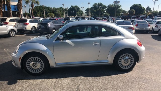2014 Silver Volkswagen Beetle 1.8T 2 Door FWD Hatchback Automatic 1.8L 4-Cylinder DGI Turbocharged DOHC Engine