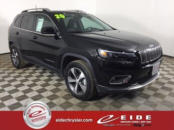 2020 Diamond Black Crystal Pearlcoat Jeep Cherokee Limited 4 Door 3.2L V6 Engine 4X4 Automatic SUV