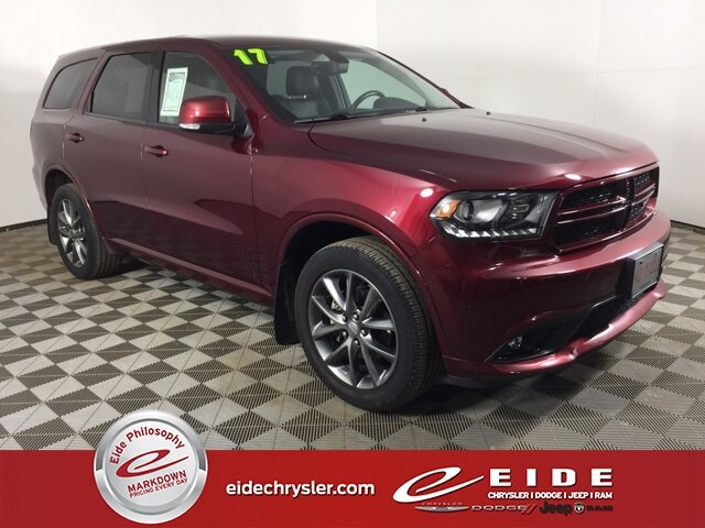 2017 Octane Red Pearlcoat Dodge Durango GT SUV Automatic 4 Door 3.6L V6 24V VVT Engine