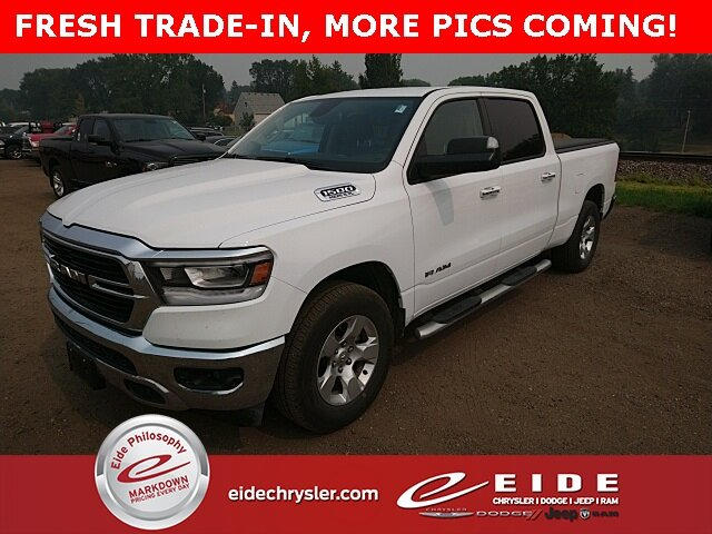 2019 Bright White Clearcoat Ram 1500 Big Horn Truck Automatic 4 Door