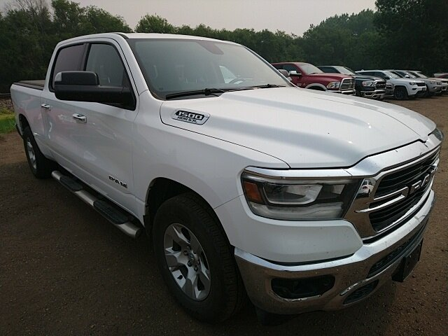 2019 Bright White Clearcoat Ram 1500 Big Horn 4X4 4 Door Truck Automatic