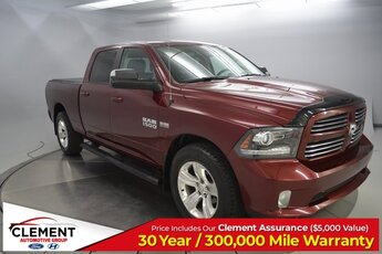 2017 Ram 1500 Sport 4 Door Truck HEMI 5.7L V8 Multi Displacement VVT Engine 4X4