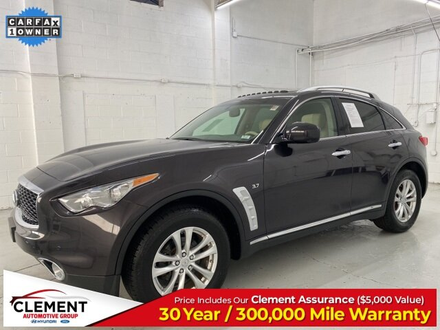 2017 Midnight Mocha INFINITI QX70 Base 4 Door Automatic AWD SUV 3.7L V6 Engine