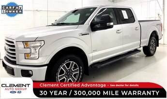 2017 Ingot Silver Metallic Ford F-150 XLT 4 Door Truck 4X4 Automatic