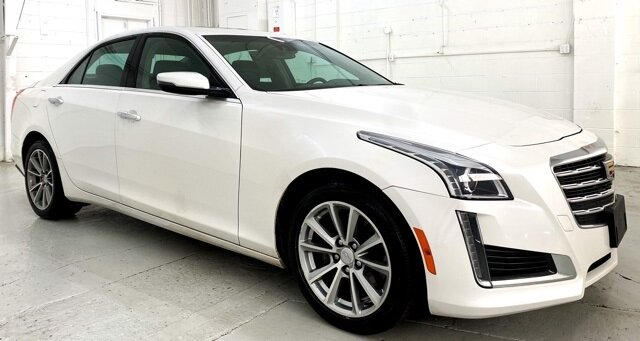 2018 Crystal White Tricoat Cadillac CTS Luxury AWD Automatic Car AWD 4 Door