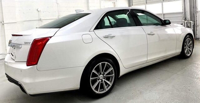 2018 Crystal White Tricoat Cadillac CTS Luxury AWD 2.0L Turbo I4 DI DOHC VVT Engine Automatic 4 Door Car AWD