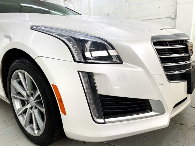 2018 Crystal White Tricoat Cadillac CTS Luxury AWD 4 Door Automatic AWD Car 2.0L Turbo I4 DI DOHC VVT Engine