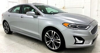 2020 Iconic Silver Metallic Ford Fusion Titanium Automatic 4 Door Car EcoBoost 2.0L I4 GTDi DOHC Turbocharged VCT Engine FWD