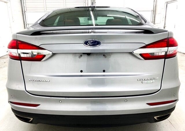 2020 Iconic Silver Metallic Ford Fusion Titanium Car EcoBoost 2.0L I4 GTDi DOHC Turbocharged VCT Engine Automatic