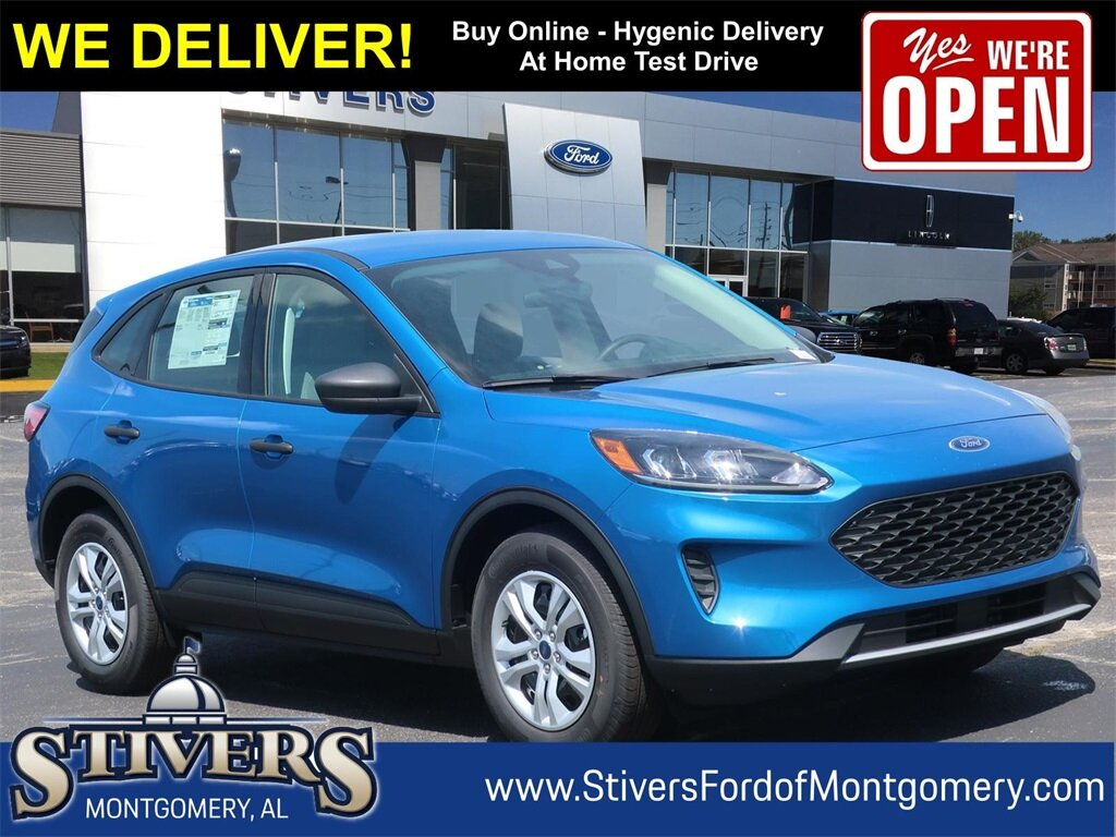 2021 Velocity Blue Metallic Ford Escape S SUV FWD 1.5L EcoBoost Engine 4 Door Automatic