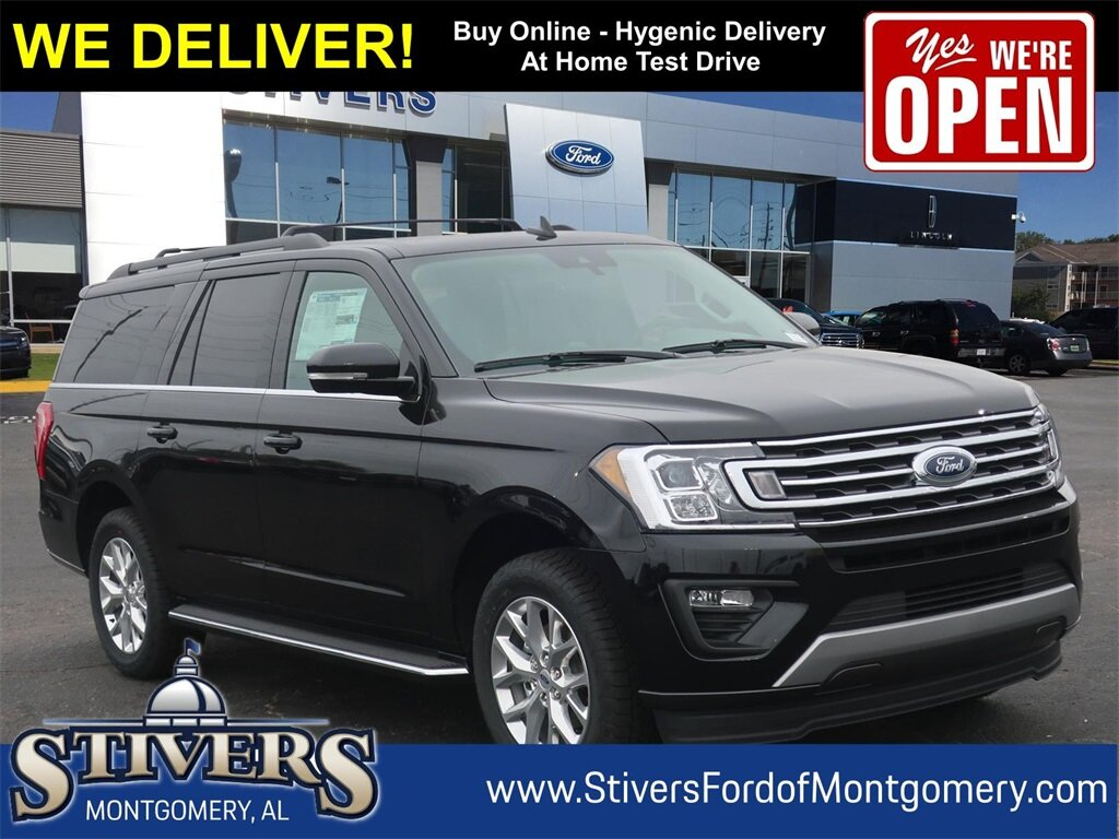 2021 Agate Black Metallic Ford Expedition Max XLT EcoBoost 3.5L V6 GTDi DOHC 24V Twin Turbocharged Engine Automatic RWD SUV