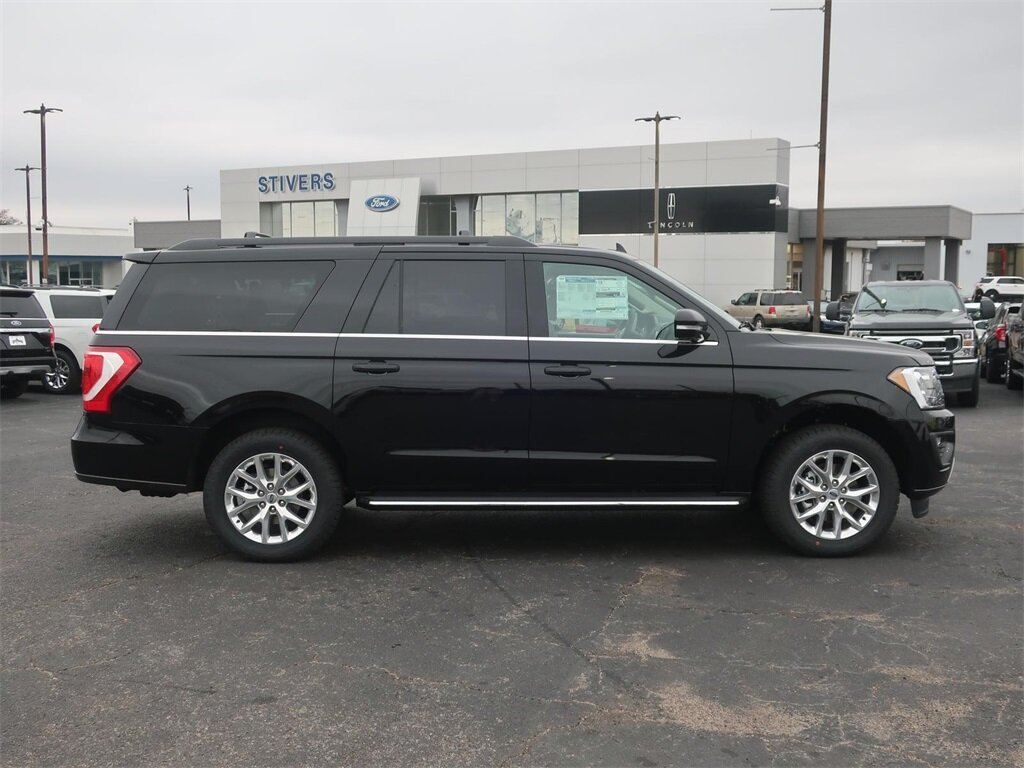 2021 Agate Black Metallic Ford Expedition Max XLT RWD EcoBoost 3.5L V6 GTDi DOHC 24V Twin Turbocharged Engine Automatic 4 Door SUV