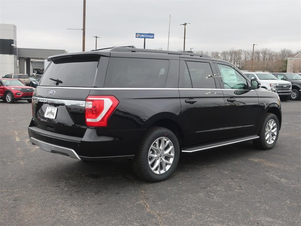 2021 Agate Black Metallic Ford Expedition Max XLT EcoBoost 3.5L V6 GTDi DOHC 24V Twin Turbocharged Engine SUV Automatic