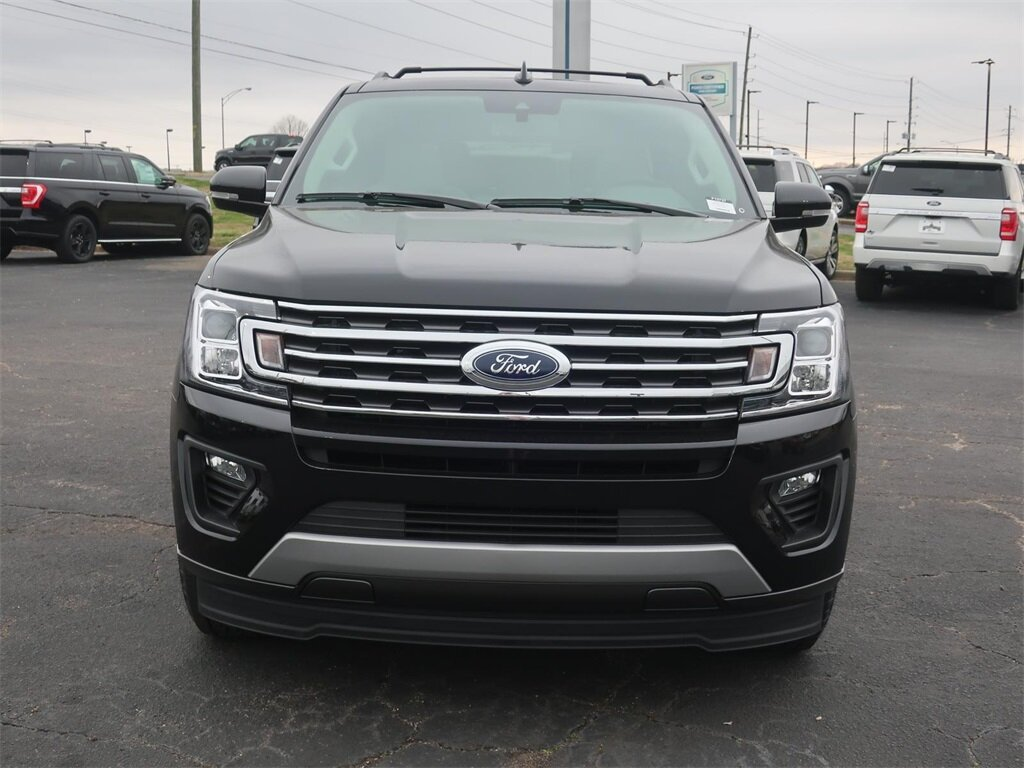 2021 Agate Black Metallic Ford Expedition Max XLT 4 Door Automatic EcoBoost 3.5L V6 GTDi DOHC 24V Twin Turbocharged Engine RWD