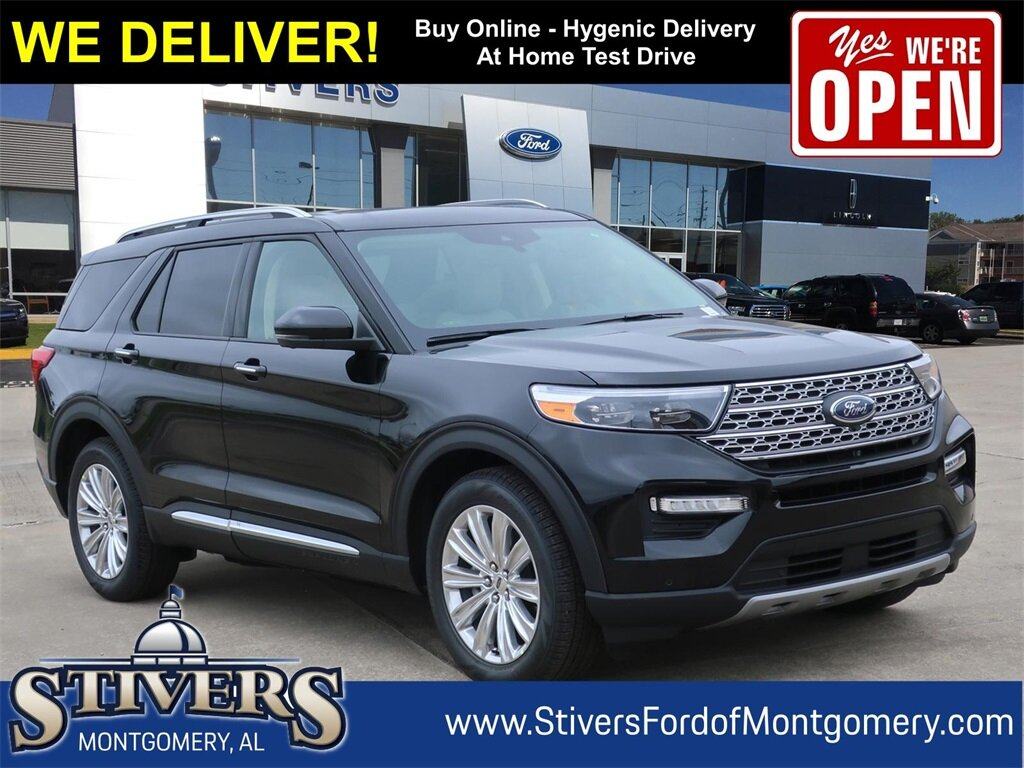2021 Agate Black Metallic Ford Explorer Limited RWD SUV 4 Door