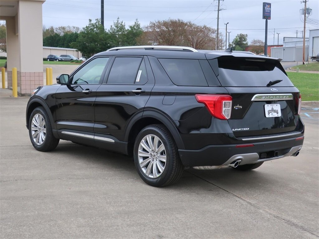 2021 Agate Black Metallic Ford Explorer Limited 4 Door SUV EcoBoost 2.3L I4 GTDi DOHC Turbocharged VCT Engine