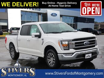 2021 Star White Metallic Tri-Coat Ford F-150 Lariat 2.7L V6 EcoBoost Engine Automatic Truck RWD 4 Door