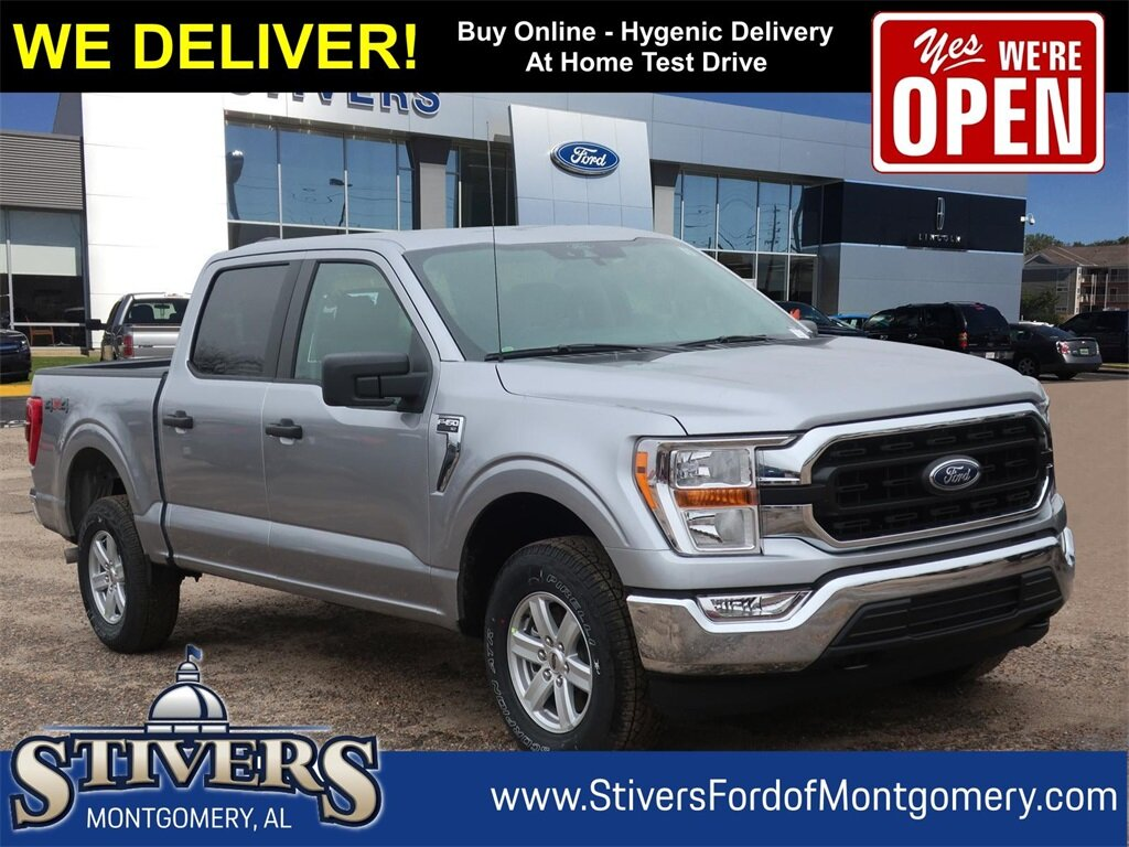 2021 Silver Ford F-150 XLT Truck Automatic 4 Door 5.0L V8 Engine 4X4