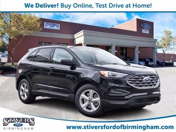 2021 Black Metallic Ford Edge SE EcoBoost 2.0L I4 GTDi DOHC Turbocharged VCT Engine Automatic SUV 4 Door FWD
