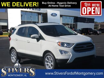 2021 Diamond White Ford EcoSport SE 4 Door EcoBoost 1.0L I3 GTDi DOHC Turbocharged VCT Engine SUV FWD