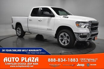2021 Bright White Clearcoat Ram 1500 Big Horn 4X4 Truck Automatic Engine