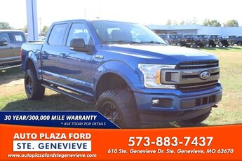 2018 Blue Jeans Metallic Ford F-150 4WD XLT SuperCrew Automatic 2.7L V6 Turbocharged Engine Truck 4X4