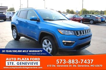2018 Laser Blue Pearlcoat Jeep Compass Latitude 4X4 SUV 4 Door Automatic 2.4L Engine