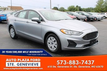 2020 Iconic Silver Metallic Ford Fusion S FWD 4 Door 2.5L Engine Sedan