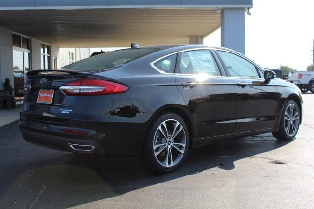 2020 Agate Black Metallic Ford Fusion Titanium FWD 4 Door Automatic Sedan
