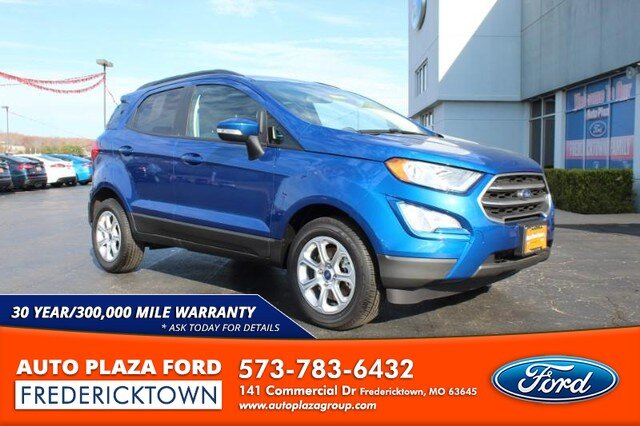2020 Lightning Blue Metallic Ford EcoSport SE 1.0L Turbocharged Engine 4 Door FWD SUV Automatic