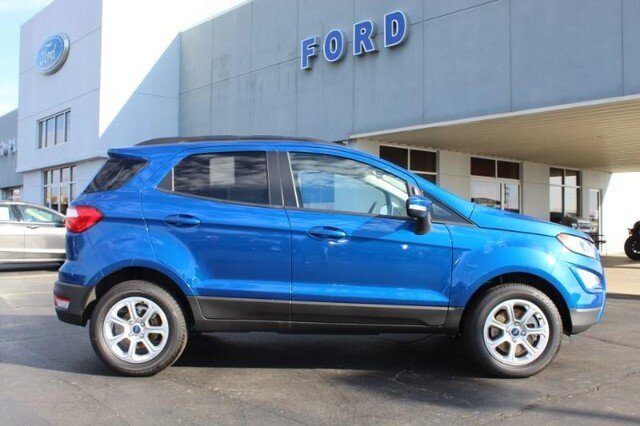 2020 Lightning Blue Metallic Ford EcoSport SE SUV Automatic 1.0L Turbocharged Engine 4 Door FWD