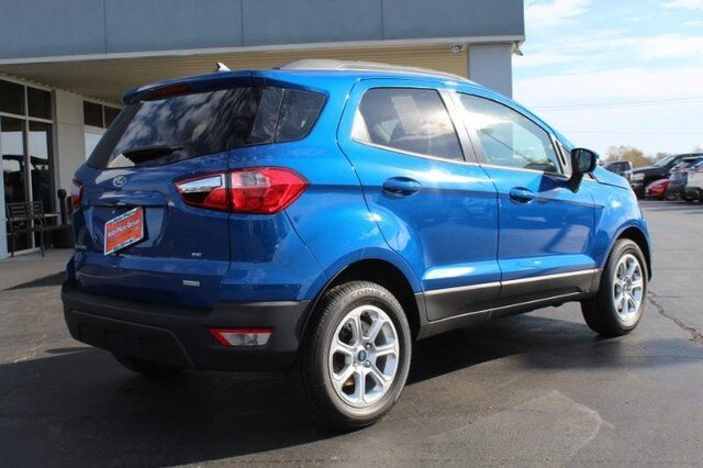 2020 Lightning Blue Metallic Ford EcoSport SE SUV 4 Door Automatic