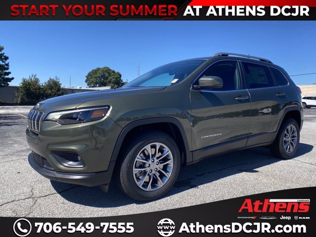 2021 Olive Green Pearlcoat Jeep Cherokee Latitude Plus Regular Unleaded I-4 2.4 L/144 Engine 4 Door FWD SUV Automatic