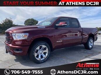 2021 Delmonico Red Pearlcoat Ram 1500 Big Horn Truck 4 Door RWD Gas/Electric V-6 3.6 L/220 Engine Automatic