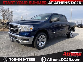 2021 Patriot Blue Pearlcoat Ram 1500 Big Horn Truck Automatic 4 Door Regular Unleaded V-8 5.7 L/345 Engine