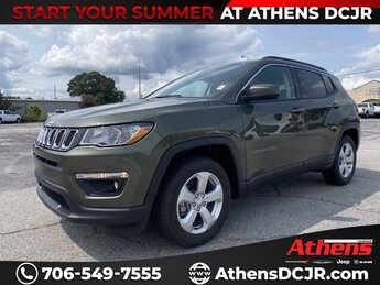 2021 Olive Green Pearlcoat Jeep Compass Latitude Regular Unleaded I-4 2.4 L/144 Engine SUV FWD 4 Door Automatic