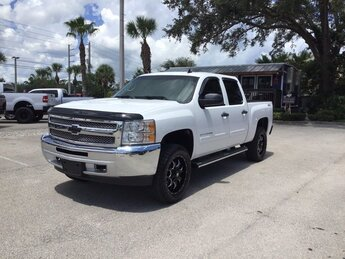 2013 Summit White Chevrolet Silverado 1500 LT Vortec 5.3L V8 SFI VVT Flex Fuel Engine Truck Automatic 4 Door