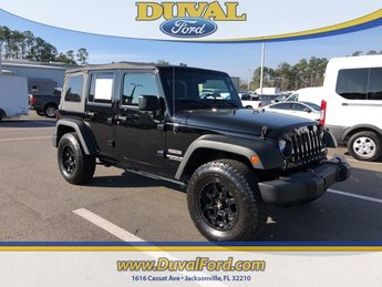 2016 Black Clearcoat Jeep Wrangler Unlimited Sport 3.6L V6 24V VVT Engine Automatic 4 Door 4X4 SUV