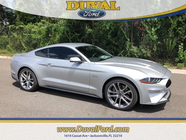 2019 Ingot Silver Metallic Ford Mustang GT Premium 5.0L V8 Ti-VCT Engine RWD 2 Door Coupe