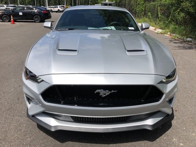 2019 Ingot Silver Metallic Ford Mustang GT Premium 2 Door 5.0L V8 Ti-VCT Engine RWD Coupe Automatic