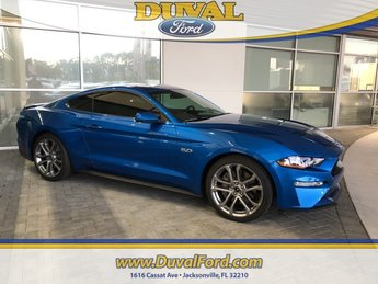 2019 Blue Metallic Ford Mustang GT Premium Coupe 5.0L V8 Ti-VCT Engine 2 Door RWD