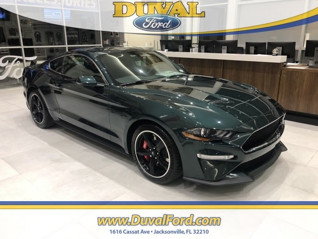 2019 Dark Highland Green Metallic Ford Mustang Bullitt RWD Coupe Manual