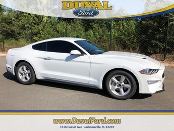 2019 Oxford White Ford Mustang EcoBoost RWD Coupe Automatic 2 Door
