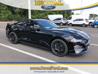2019 Shadow Black Ford Mustang EcoBoost EcoBoost 2.3L I4 GTDi DOHC Turbocharged VCT Engine Coupe 2 Door