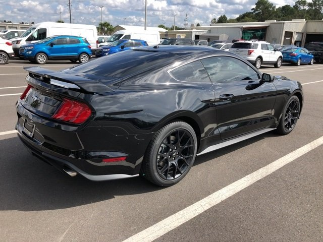 2019 Shadow Black Ford Mustang EcoBoost Automatic 2 Door EcoBoost 2.3L I4 GTDi DOHC Turbocharged VCT Engine Coupe
